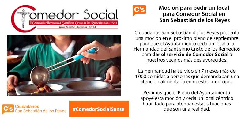 Moción Ciudadanos San-Sebastian de-los Reyes Comedor Social