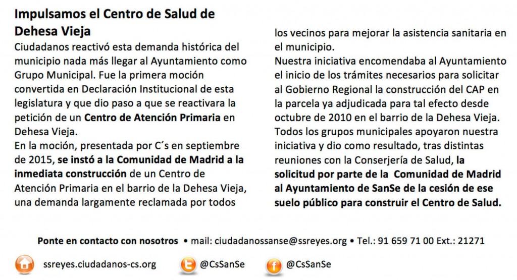 Centro de Salud Dehesa Vieja Ciudadanos San sebastián de los Reyes