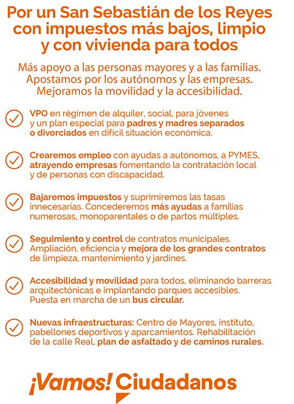 Programa Ciudadanos San Sebastián de los Reyes municipales Martín Perdiguero