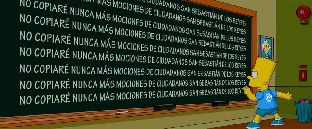 Política Simppson Ciudadanos San Sebastián de los Reyes
