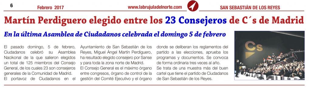 Consejo General Ciudadanos Miguel ángel Martín Perdiguero Ciudadanos San Sebastián de los Reyes Madrid